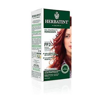 Hair Dye Permanent Coloring Gel FF2 Purple Red 150 ml