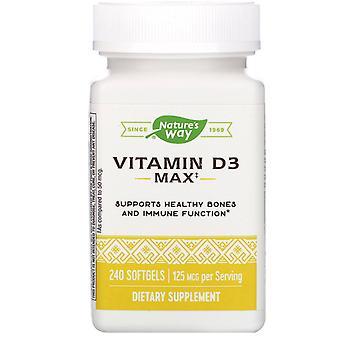 Natur's Way, Vitamin D3, 125 mcg, 240 Softgels