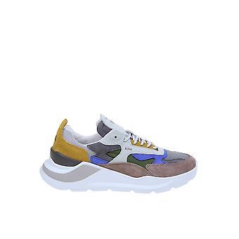 D.a.t.e. M331fgnyar Men's Multicolor Leather Sneakers