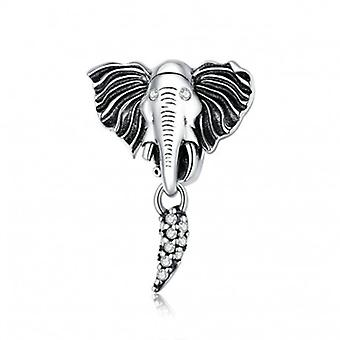 Sterling Silver Pendant Charm Elephant - 6729