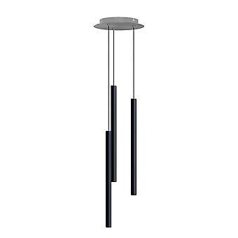 Canalis 1 Light Black Pendant - Round Canopy