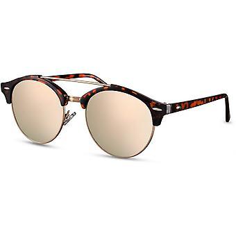 Sunglasses Unisex panto brown/gold (CWI1614)