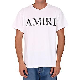 Amiri W0m03559cjwht Men's weiße Baumwolle T-shirt