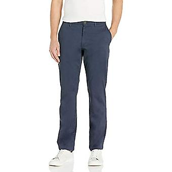 Brand - Goodthreads Men's Straight-Fit Washed Comfort Stretch Chino Pant, Navy, 29W x 32L