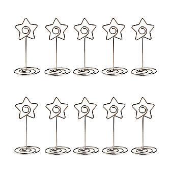 10PCS kaarthouders voor Wedding Party Tafel nummer teken vijfpuntige ster