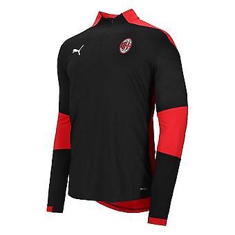 2020-2021 AC Milan Stadium 1/4 Zip Training Top (Black)