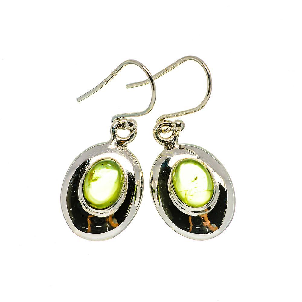 """Für Nizza Fantastisk pris Peridot Earrings 1 1/4"""" (925 Sterling Silver)  - Handmade Boho Vintage Jewelry EARR405842 fR5dj"""