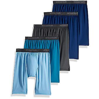 Fruit of the Loom Men's Micro-Stretch Long Leg Boxer, Assorted, Size Medium