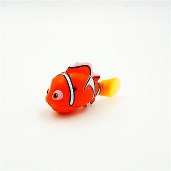 مضحك السباحة الالكترونية الأسماك تنشيط بطارية تعمل بالطاقة لعبة السمك لزينة خزان الصيد