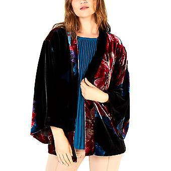 Trina Turk | Velour Printed Poncho Jacket