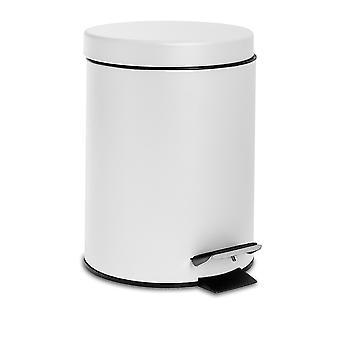 3 Liter Badezimmer Pedalbehälter mit Inneneimer - Mattweiß