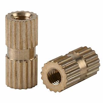 150pcs/set M3 Brass Knurled Nuts Metric Threaded Kit