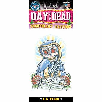 Tinsley Transfers Temporary Tattoo - Day Of The Dead (La Flor)