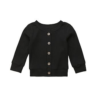 Fashion Newborn Infant Kids Baby Girls Clothes Button Knitted Sweater Cardigan Coat Tops