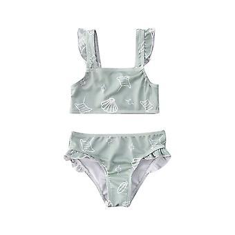 Sleeveless Ruffle Swimwear For Newborn Baby