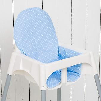 Puckdaddy Seat Cushion Jörn for IKEA High Chair Antilop Dots Svetlo modrá biela