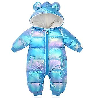 Rompers Cartoon Cappuccio Lucido Cappotto Impermeabile per neonato Snowsuit Toddler