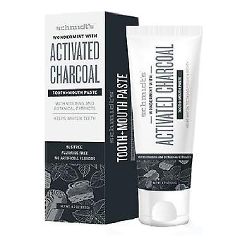 Schmidt's Deodorant Toothpaste, Wondermint/Activated Charcoal 4.7 Oz