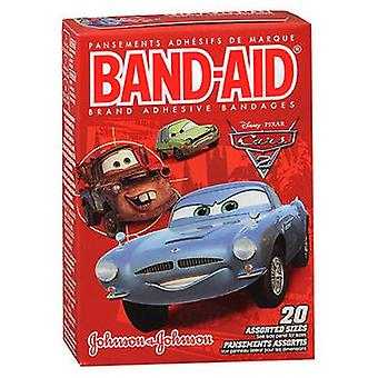 Band-Aid Adhesive Bandages Disney Pixar Cars 3 Assorted Sizes, 20 Each