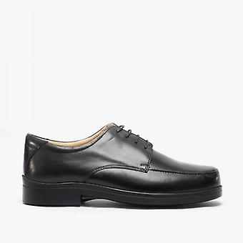 Roamers Peter Mens Lace-up Light Xxx Extra Wide Shoes Negro