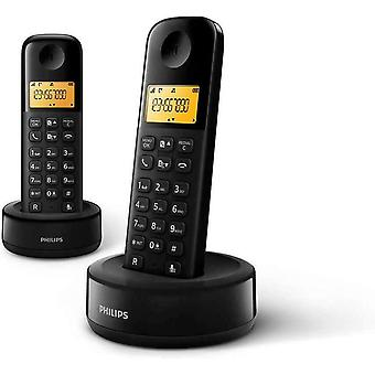 Philips D1602B Duo Cordless DECT Landline Phone Caller ID (EU ONLY - 2 PIN PLUG)