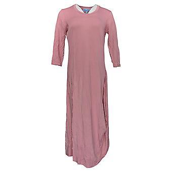 Soft & Cozy Dress MLoungewear Luxe Knit 3/4-Sleeve Draped Pink 619-639