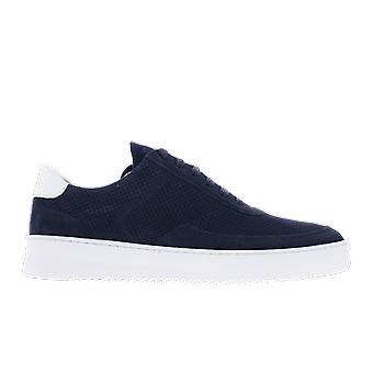 Filling Pieces Mondo Ripple Perforated Blue 2452010 shoe