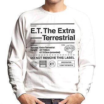 E.t. La especificación extraterresonda Hombres's Sudadera