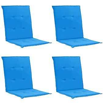 vidaXL puutarhatuoli painos 4 kpl. sininen 100 x 50 x 3 cm