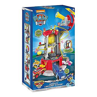 Paw Patrol Mighty Pups Super Paws Lookout Tower Playset with Lights and Sound