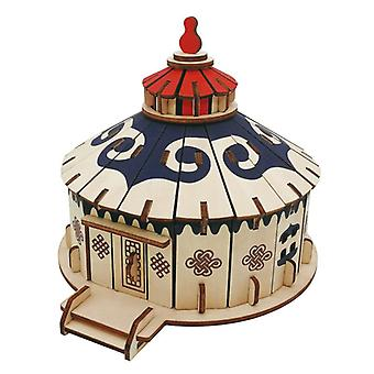 Develop kids intelligence Wooden 84 piece 3D Puzzle - Yurt