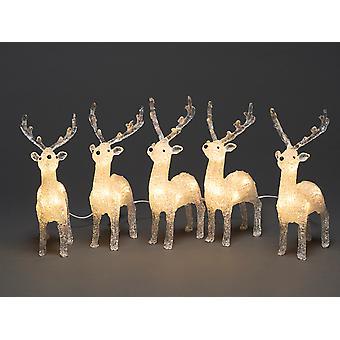 Konstsmide Acrylic Reindeer Set 5 Piece 6288-103