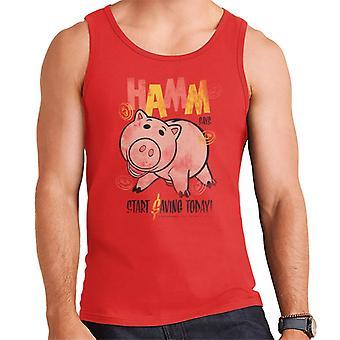 Pixar Toy Story Hamm Start Saving Today Men's Vest