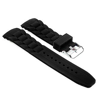 Strapsco rubber oyster strap with curved ends