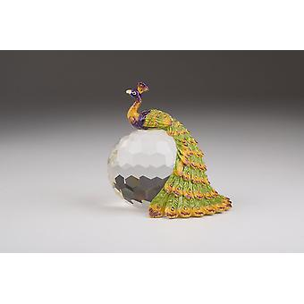 Colorful Peacock On Crystal Ball