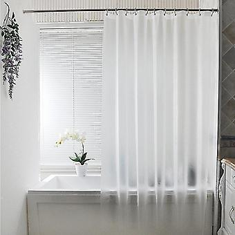 Waterproof Translucent Brushed Shower Curtain Bathroom, Plastic Polyester