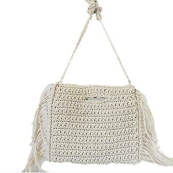 Straw Cotton Diagonal Woven Bag/portable Holiday Straw Woven Bag Beach Bag