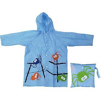 Impermeabile con stampa ragno blu per bambini
