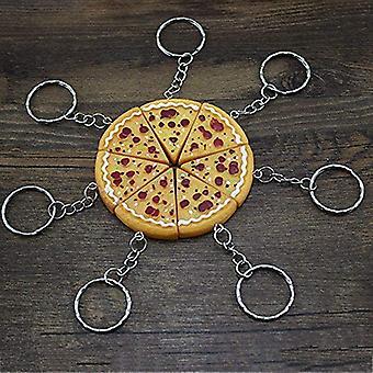 5pcs Pizza Keychain Pendant