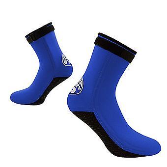 Chaussettes de sable Non-slip Chaussettes de soccer anti-plage chaussettes pour hommes femmes mise à niveau bleu