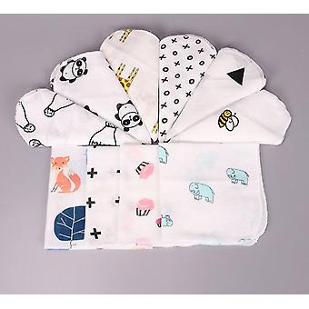 Baby Cotton Muslin Towel Handkerchiefs Two Layers Wipe Handkerchiefs 28x28cm