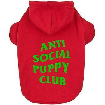 Anti Sociale Sociale Pup Hoodie | Hondenkleding