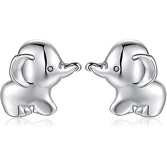 Qings Elephant Earrings 925 Sterling Silver Baby Elephant Stud Earrings