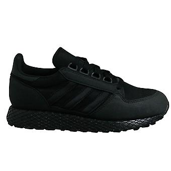 Adidas Originals Forest Grove Kids Black Lace Up Juniors Running Trainers G27822