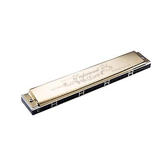 Tremolo Harmonica 24 Holes Diatonic key A-G Mouth Organ Performance Competition