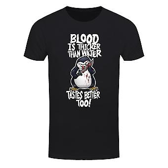 Psycho Penguin Mens Blood Is Thicker Than Water T-Shirt