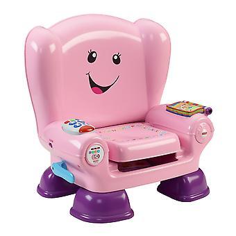 Fisher-pris skratt lär sig smarta steg stol rosa