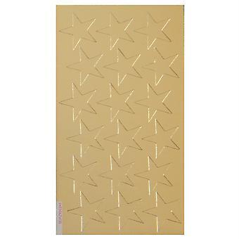 "Presto-Stick Foil Star Stickers, 3/4"", Gold, Pack Of 175"