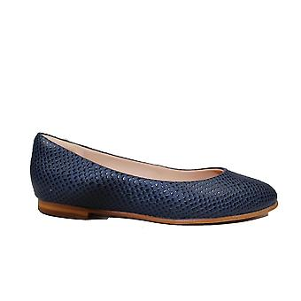 Clarks Grace Piper Navy Interest Leather Womens Slip On Shoes