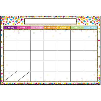 "Smart Poly Chart, 13"" X 19"", Calendario confeti"